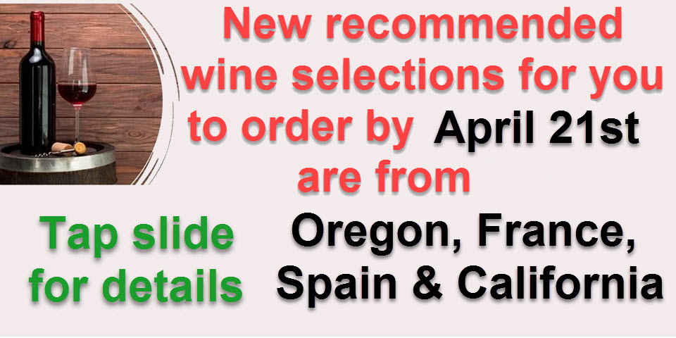 Order Wines from A NEW Selection