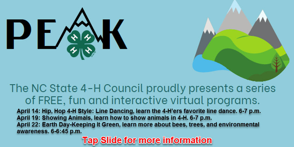4-H Virtual Peak Classes