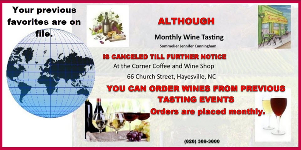Order Wines from Previous Monthly Tastings