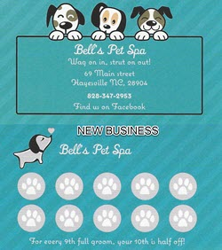 Bells Pet Spa Card250X282